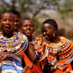 Kenya: Umoja women singing in their village, 2008, photograph by Stephanie Mendez