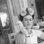 Frida in the dining area, Coyoacán, 1941