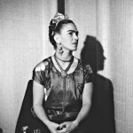 Frida with Blue Satin Blouse, New York