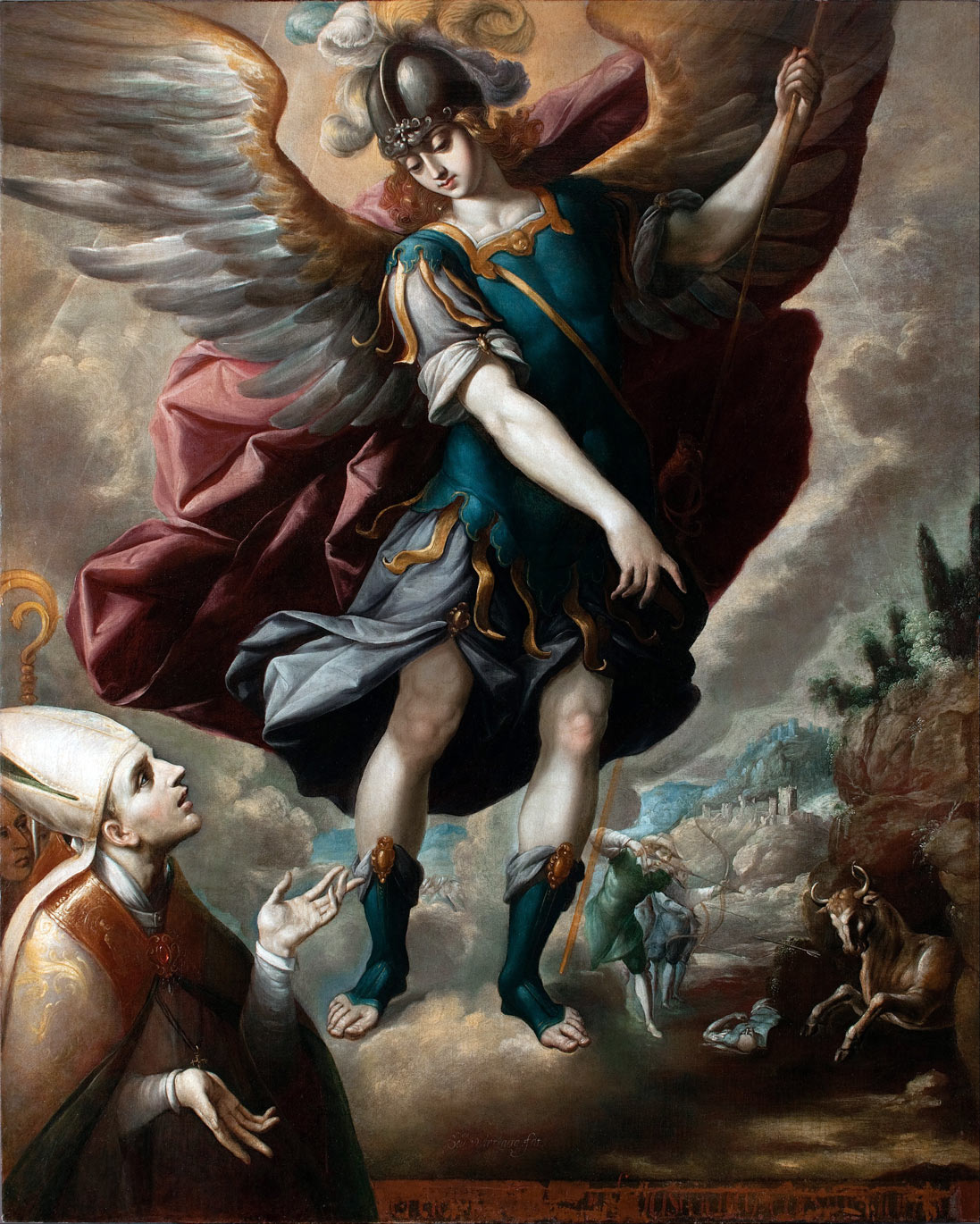 Sebastian_Lopez_de_Arteaga_-_Saint_Michael_and_the_Bull-(DAM)