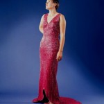 Glass evening gown (made from recycled glass)