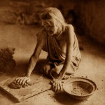 The Potter Mixing Clay, 1921