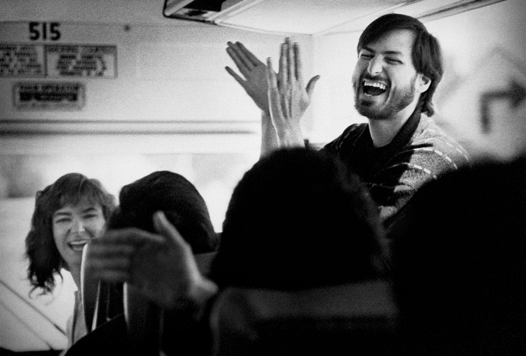 Steve Jobs Returning from a Visit to the New Factory.  Fremont, California, 1987.